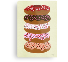Donuts Stacked on Cream Metal Print