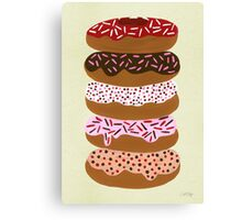 Donuts Stacked on Cream Canvas Print