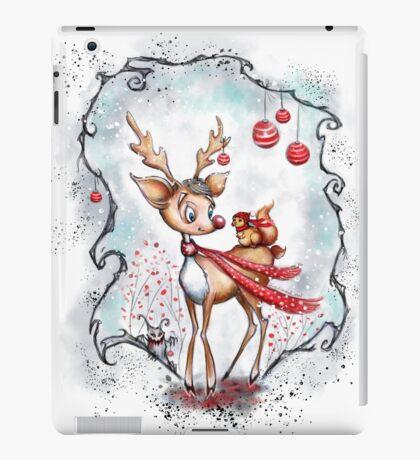 Reindeer and Squirrel - Creepy Cute Christmas iPad Case/Skin