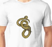 Viper Coiled Ready To Pounce Drawing Unisex T-Shirt