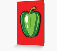 Green Pepper Greeting Card