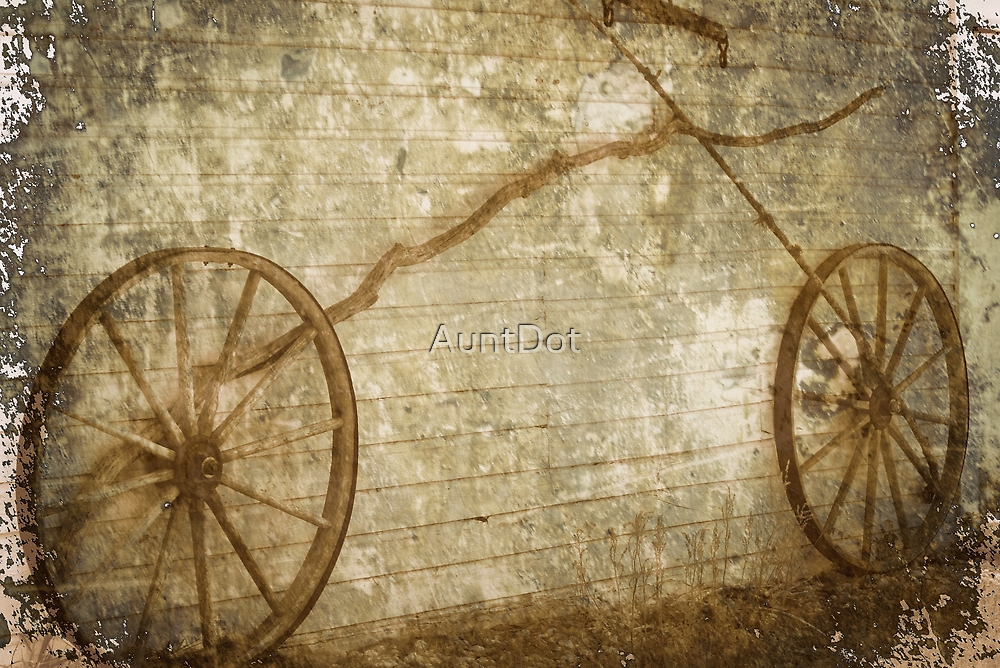 Bicycle Facsimile In Grunge by AuntDot