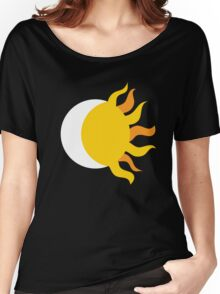 Day and Night : Sun and Moon : Geometric : Fire Tribal Print Women's Relaxed Fit T-Shirt