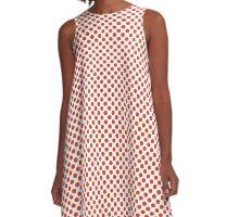 Tangerine Tango Polka Dots A-Line Dress
