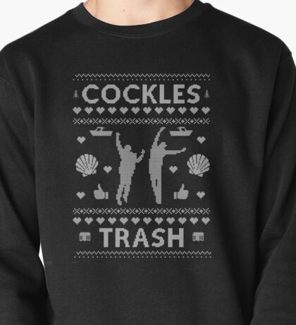 Cockles Trash Ugly XMAS Sweater - White Pullover