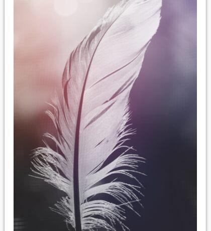 Feather in Pastel Tones Sticker