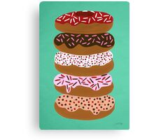 Donuts Stacked on Mint Canvas Print