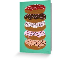 Donuts Stacked on Mint Greeting Card