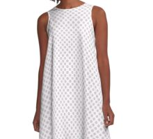 Orchid Ice Polka Dots A-Line Dress
