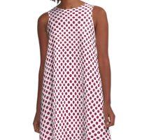 Cerise Polka Dots A-Line Dress