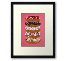 Donuts Stacked on Cherry Framed Print