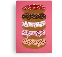 Donuts Stacked on Cherry Canvas Print