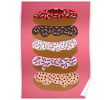 Donuts Stacked on Cherry Poster