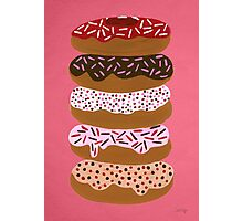 Donuts Stacked on Cherry Photographic Print