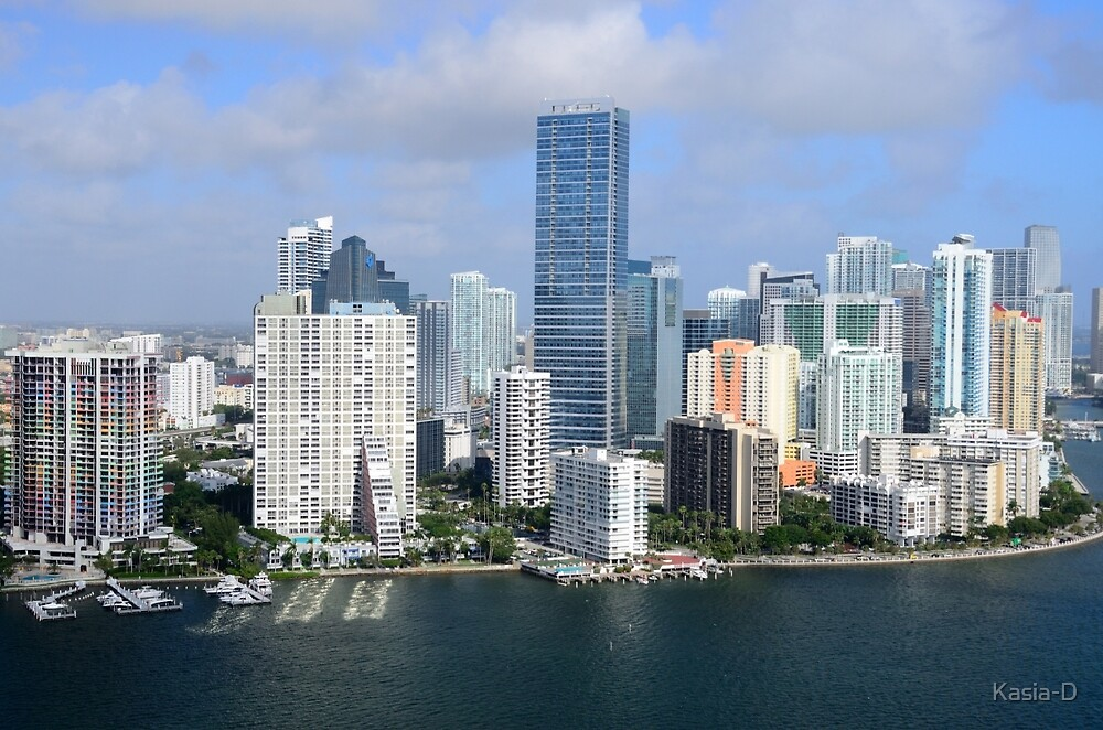 Miami: Downtown Skyscrapers by Kasia-D