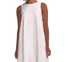 Blushing Bride Polka Dots A-Line Dress