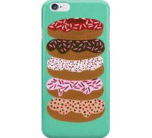 Donuts Stacked on Mint iPhone Case/Skin
