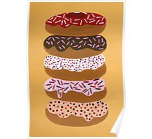 Donuts Stacked on Yellow Poster