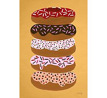 Donuts Stacked on Yellow Photographic Print