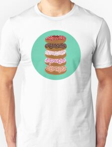 Donuts Stacked on Mint T-Shirt