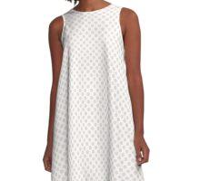 Bridal Blush Polka Dots A-Line Dress