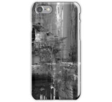 Waterfall in Black and White iPhone Case/Skin