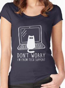 I'm from tech support Women's Fitted Scoop T-Shirt
