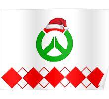 Christmas Overwatch Logo Design Poster