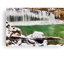 Winter at Cataract Falls, Indiana Canvas Print