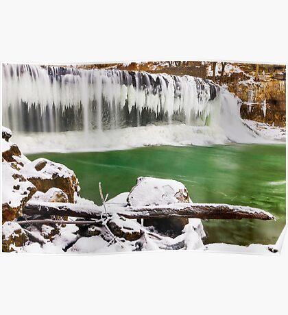 Winter at Cataract Falls, Indiana Poster