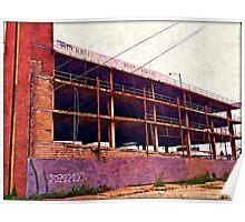 Watercolor Garage Poster