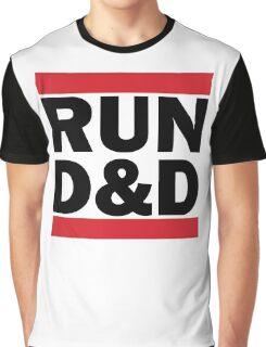 RUN D&D in black Graphic T-Shirt