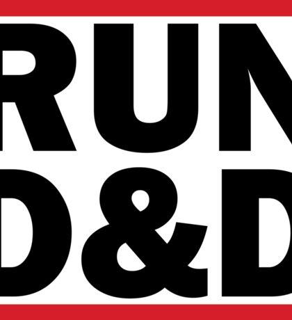 RUN D&D in black Sticker