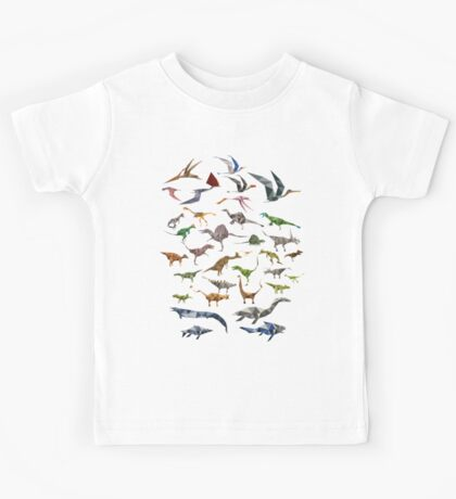Colored Dinosaurs chart Kids Tee