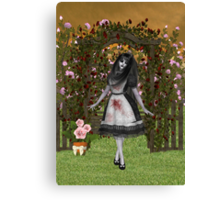 Rose Garden at Halloween Canvas Print