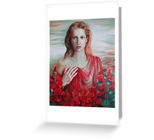 Red ocean Greeting Card