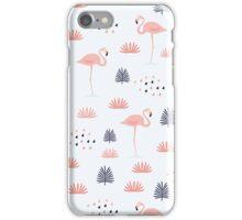 pink flamingos print iPhone Case/Skin