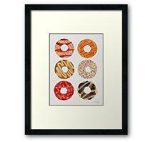 Half Dozen Donuts Framed Print