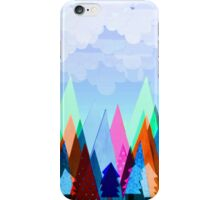 Misty Mountains (blue) iPhone Case/Skin
