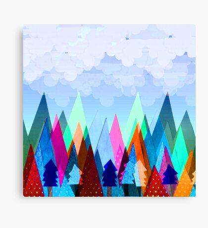 Misty Mountains (blue) Canvas Print