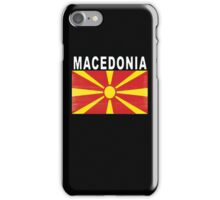 Macedonian Distressed Flag Soccer Team iPhone Case/Skin