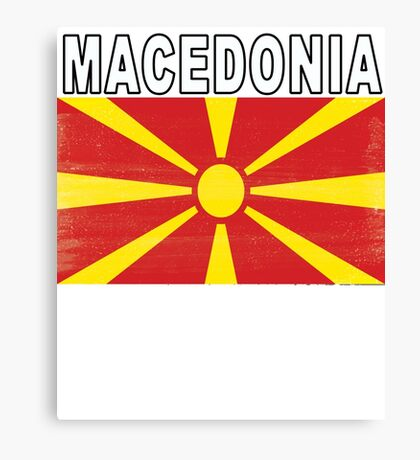Macedonian Distressed Flag Soccer Team Canvas Print