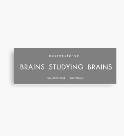 Brains studying Brains Canvas Print