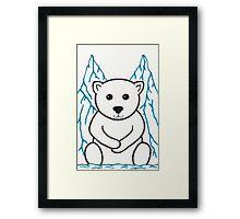 Percy the Polar Bear Art Framed Print