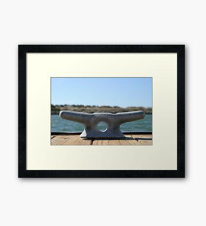 Dock Cleats Framed Print