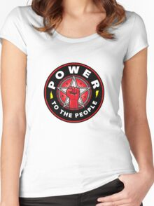 POWER TO THE PEOPLE! Women's Fitted Scoop T-Shirt