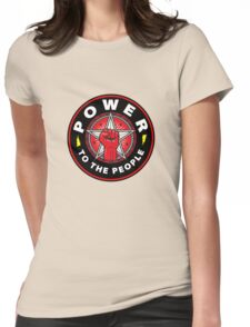 POWER TO THE PEOPLE! Womens Fitted T-Shirt