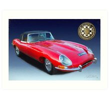 E-Type Jaguar Art Print