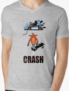 CRASH AKIRA Mens V-Neck T-Shirt