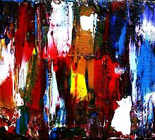 Coney Island (Part 2) acrylics on stretched canvas abstract impressionism by JamesPeart